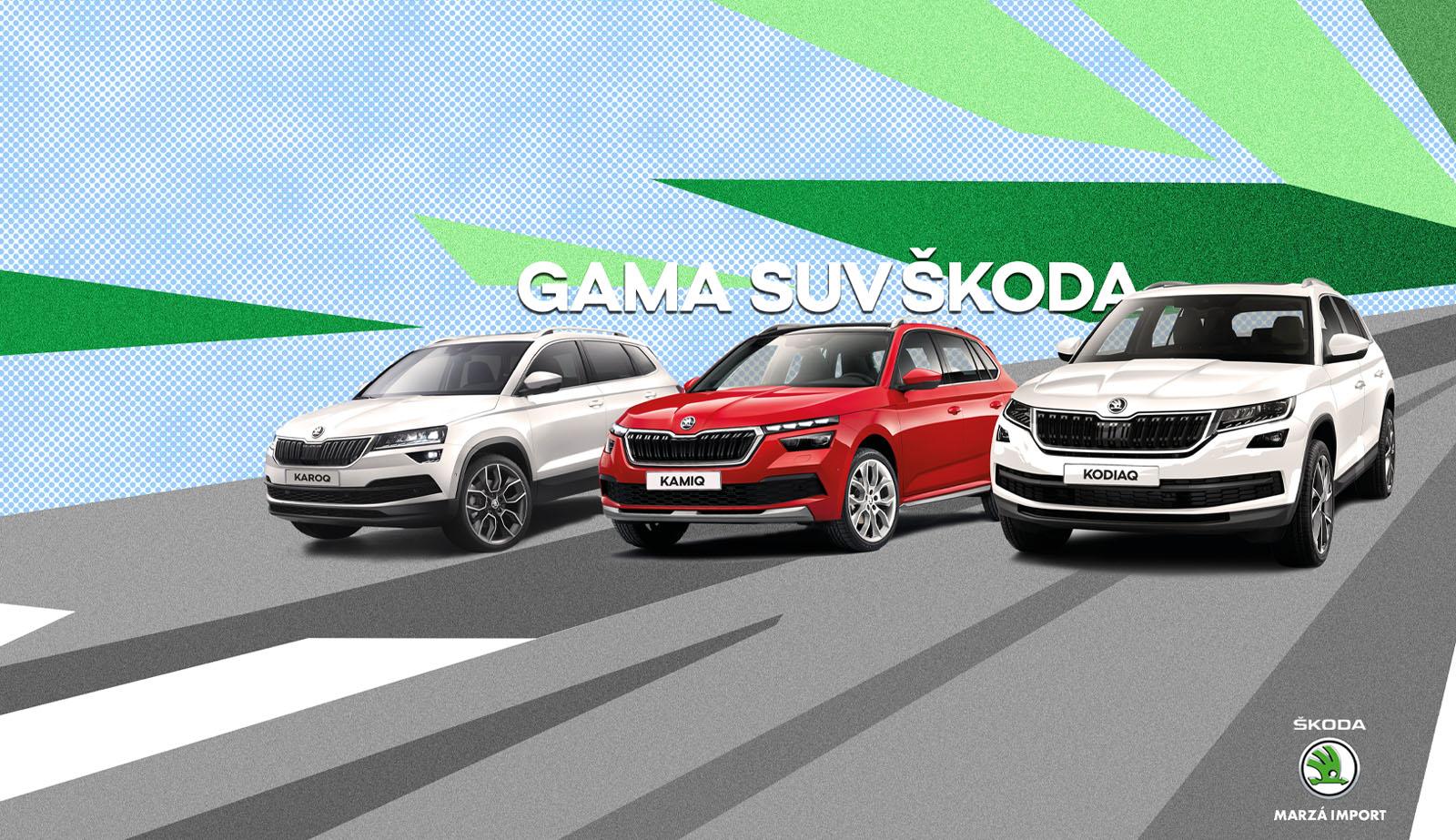 Gama SUV SKODA en Marzá import Castellón